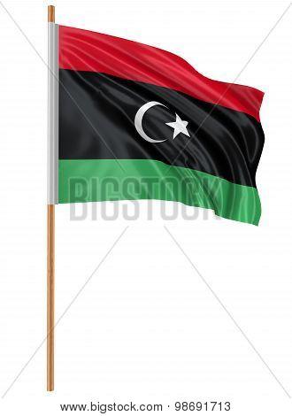 3D flag of Libya