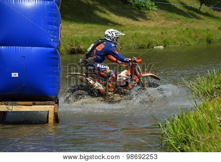 Sibiu, Romania - July 16: Philipp Scholz Competing In Red Bull Romaniacs Hard Enduro Rally With A Kt