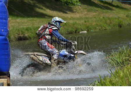 Sibiu, Romania - July 16: Benjamin Crookenden Competing In Red Bull Romaniacs Hard Enduro Rally With