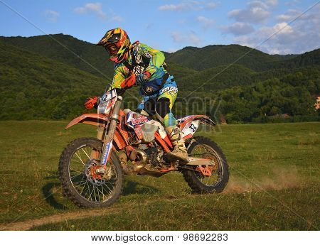 Sibiu, Romania - July 16: Jonathan Richardson Competing In Red Bull Romaniacs Hard Enduro Rally With