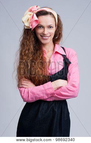 Beautiful Young Woman Housewife