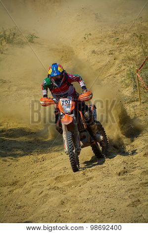 Sibiu, Romania - July 18: Jesus Zavala Competing In Red Bull Romaniacs Hard Enduro Rally With A Avan