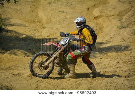 Sibiu, Romania - July 18: Tobias Schrot Competing In Red Bull Romaniacs Hard Enduro Rally With A Ktm