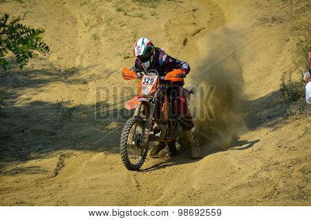 Sibiu, Romania - July 18: Bernardo Moino Competing In Red Bull Romaniacs Hard Enduro Rally With A Va