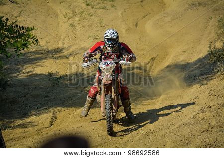 Sibiu, Romania - July 18: Michael Schindlauer Competing In Red Bull Romaniacs Hard Enduro Rally With