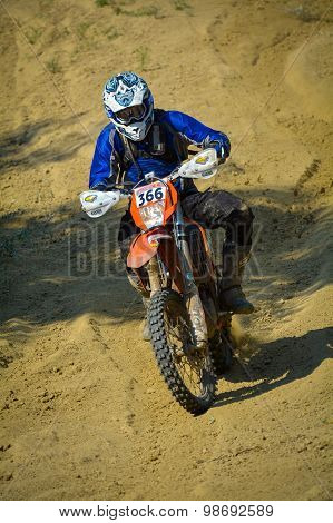 Sibiu, Romania - July 18: Damian Ticehurst Competing In Red Bull Romaniacs Hard Enduro Rally With A