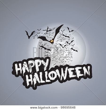 Happy Halloween Card Design Template - Vector Illustration