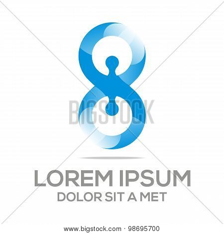Logo abstract infinity element vector