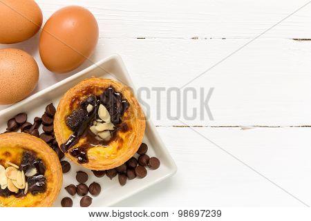 Dessert For Tea Background / Dessert For Tea / Dessert For Tea, Egg Tart Background