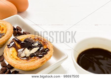 Snack For Coffee Background / Snack For Coffee / Snack For Coffee, Egg Tart Background