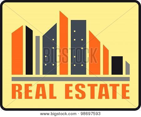 real estate urban icon