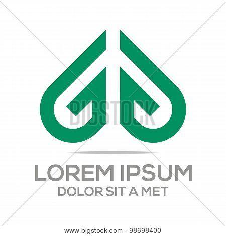 Logo Icon Vector Love Couple Design Symbol