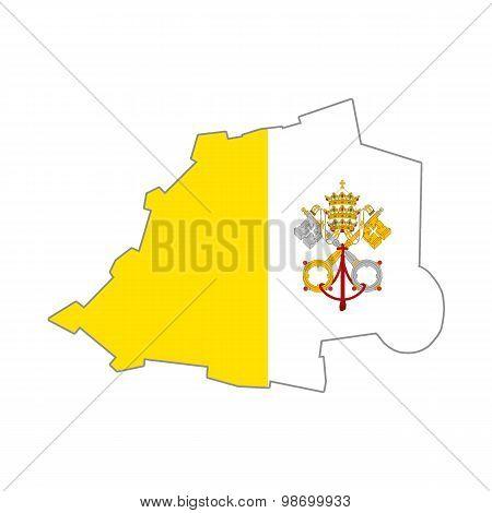 Vatican flag map