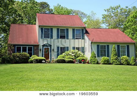 image of beautiful home of middle class  America