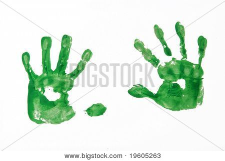 A picture of a five year olds hands