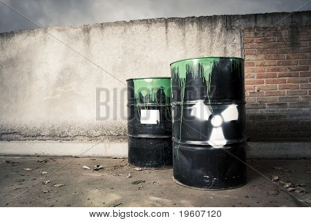 Toxic Drum Barrels Spilled Their Hazardous Content Contaminating The Earth
