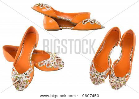 Orange Shoes For Girl