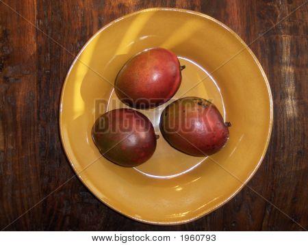 Mangos In Gold Bowl