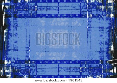 Grunge Film Strips Black And Blue