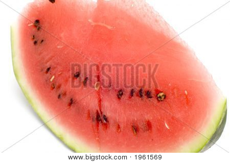 Slice Watermelon Close Up