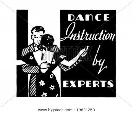 Dance Instruction - Retro Ad Art Banner