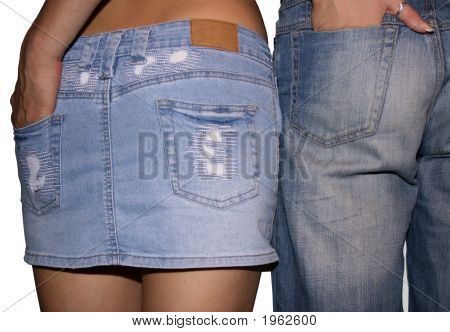 Couple In A Jeans.