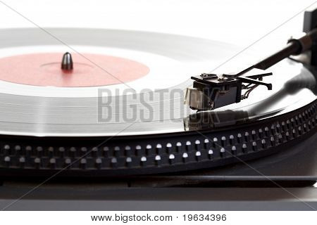 Old  Player And Vinyl Phonograph Record