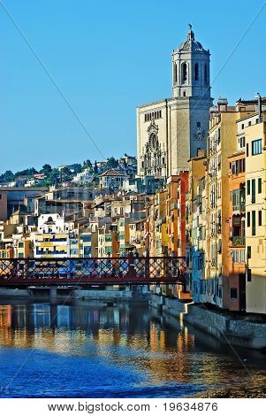 Girona - river view, Spain