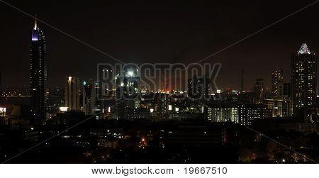 Mumbai Night Skyline, Fire In Bandra