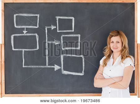Female Teacher Looking At The Camera