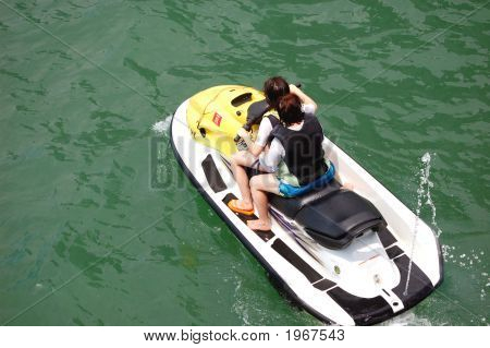 Two Girls On A Jetski