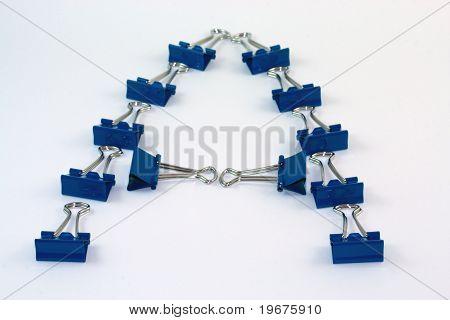 Binder clip blue A