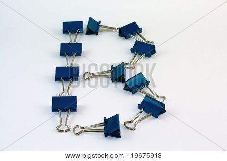 Binder clip blue B