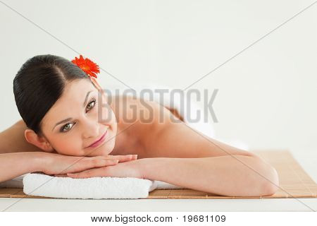 Attractive Dark-haired Woman Getting A Spa Treatment