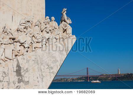 The Padrao Dos Descobrimentos In Lisbon ,portugal