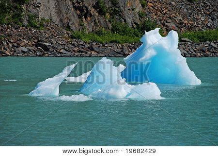 Blue Ice In Portage Lake