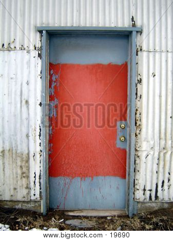 Blue And Red Door