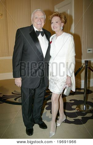 BEVERLY HILLS - FEB. 27: Ernest Borgnine & wife Tova Borgnine arrive at the 21st Annual Night of 100 Stars Oscar Viewing Party & Gala on Feb. 27, 2011 at the Beverly Hills Hotel in Beverly Hills, CA.