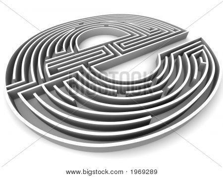 Symbol For Internet. Labirynth