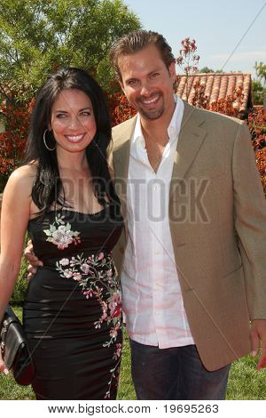 LOS ANGELES  JULY 11: Alissa Sutton & Paulo Benedeti arrives at the Birgit C. Muller Fashion Show at Chaves Ranch on July 11, 2010 in Los Angeles, CA