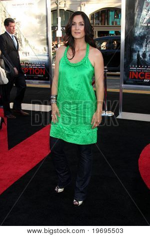 LOS ANGELES - JUL 13:  Carrie-Anne Moss arrive at the Inception Premiere at Grauman's Chinese Theater on July13, 2010 in Los Angeles, CA ....
