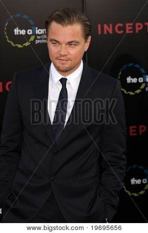 LOS ANGELES - JUL 13:  Leonardo DiCaprio arrives at the Inception Premiere at Grauman's Chinese Theater on July13, 2010 in Los Angeles, CA ....
