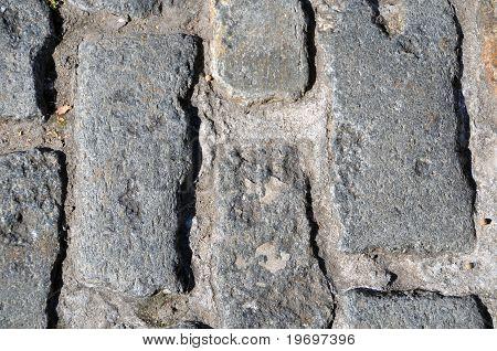 Ziegel, Holz und Stein-Hintergrund