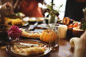 Pumpkin Pie Dessert Celebration Thanksgiving Holiday Concept poster