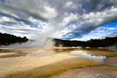 Geothermal Landscape in New Zealand