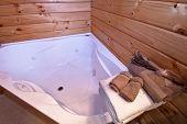 Fox Glacier Lodge bathroom interior