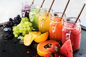 Fresh Color Juices Smoothie Tropical Fruits Multi poster
