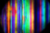 Abstract Rainbow Lines. Psychedelic Fractal Background. Digital Art. 3D Rendering. poster