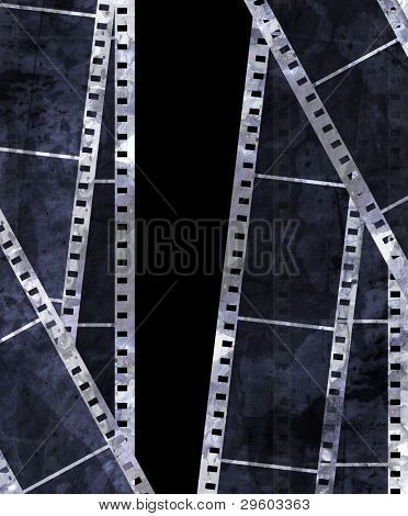 old film strip with some spots
