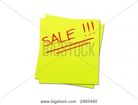 Yellow Sticky Note Sale